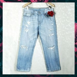 Angry Rabbit Distressed Relaxed Fit Ankle Jeans 27